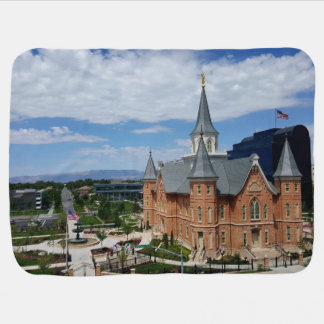 LDS provo city temple baby blanket