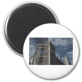 "LDS Quotes ""Spiritually Minded is Life Eternal"" Refrigerator Magnet"