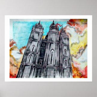 LDS Salt Lake City Temple Poster
