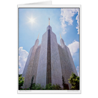 LDS Temple Under the Sun Greeting Card