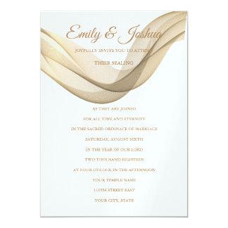 LDS Temple Wedding Invitation-The Veil Card