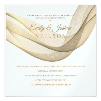 LDS Temple Wedding Reception Invitation-The Veil Card