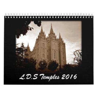 LDS Temples 2016 Wall Calendar