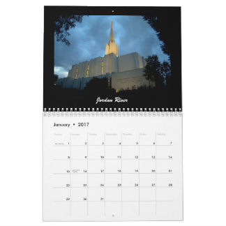 LDS Temples 2017 Wall Calendars