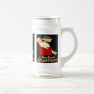 le Bon Bock Atlantique Vintage Beer Label Stein