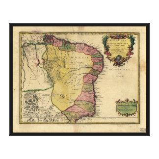 Le Bresil (Brazil) by Nicolas de Fer from 1719 Canvas Print