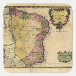 Le Bresil (Brazil) by Nicolas de Fer from 1719 Square Sticker