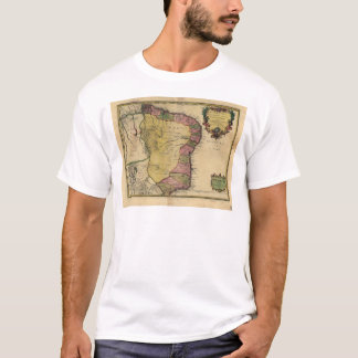 Le Bresil (Brazil) by Nicolas de Fer from 1719 T-Shirt
