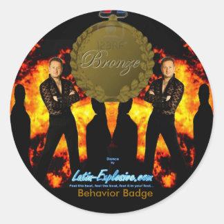 LE Bronze Badge Behavior Stickers