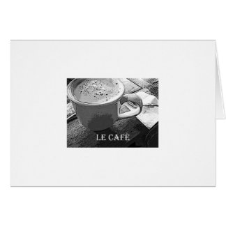 Le Cafe notecard