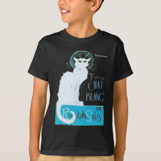 Le Chat Blanc Parody Of Le Chat Noir T-Shirt
