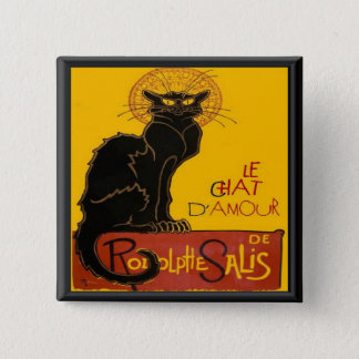 Le Chat D'Amour Love Greeting 15 Cm Square Badge