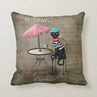 Le Chat, La Reine, L'artiste Cushion