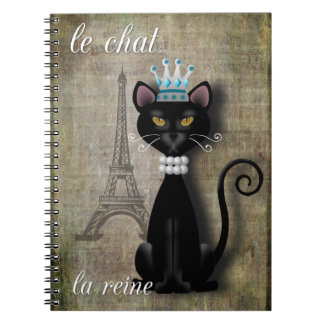 Le Chat, La Reine The Cat The Queen Notebook