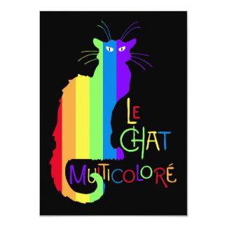 Le Chat Multicoloré 11 Cm X 16 Cm Invitation Card