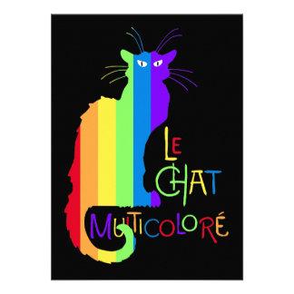 Le Chat Multicoloré Personalized Invite