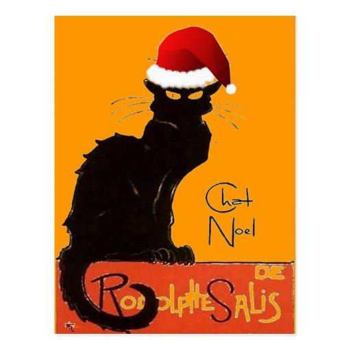Le Chat Noel Postcard