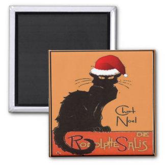 Le Chat Noel Square Magnet