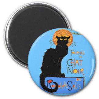 Le Chat Noir 6 Cm Round Magnet