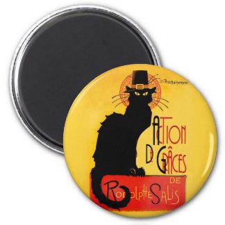 Le Chat Noir - Action De Grâces 6 Cm Round Magnet