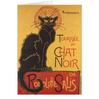 Le Chat Noir Art Print Card