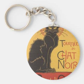 Le Chat Noir Art Print Key Ring