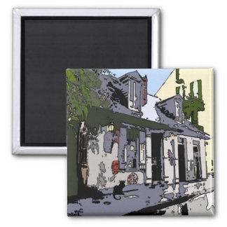Le Chat Noir Black Smith Shop Square Magnet