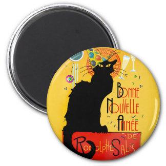 Le Chat Noir - Bonne Nouvelle Année 6 Cm Round Magnet