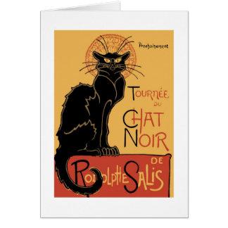 Le Chat Noir by Théophile Steinlen Card