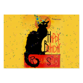 Le Chat Noir - Happy Birthday Greetings Pack Of Chubby Business Cards