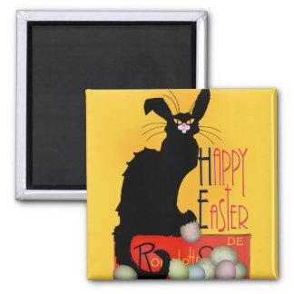 Le Chat Noir - Happy Easter Square Magnet