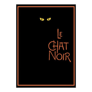 Le Chat Noir in the Dark Poster