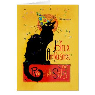 Le Chat Noir - Joyeux Anniversaire Card