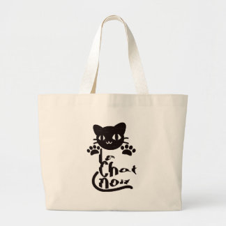 Le Chat Noir Large Tote Bag