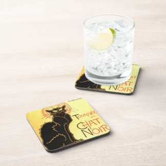 Le chat noir,Original billboard Drink Coaster