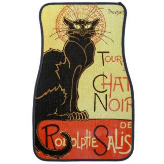 Le chat noir,Original billboard Floor Mat
