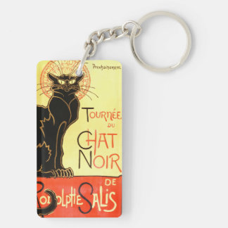 Le chat noir,Original billboard Key Ring