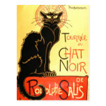 Le chat noir,Original billboard Postcard