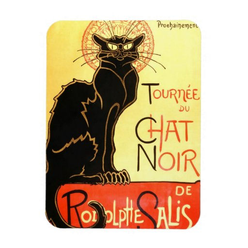 Le chat noir,Original billboard Vinyl Magnets