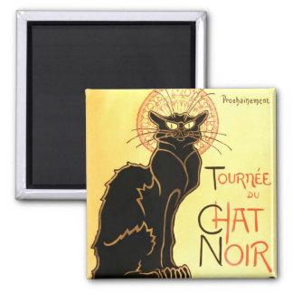 Le chat noir,Original billboard Square Magnet