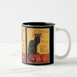 LE CHAT NOIR PRINT Two-Tone COFFEE MUG