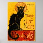 Le Chat Noir The Black Cat Art Nouveau Vintage