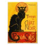 Le Chat Noir The Black Cat Art Nouveau Vintage Photo