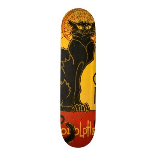 Le Chat Noir The Black Cat Art Nouveau Vintage Skate Deck