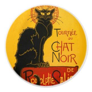 Le Chat Noir The Black Cat Ceramic Knob