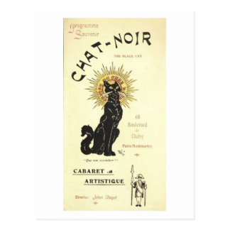 Le Chat Noir The Black Cat Fine Art Postcard