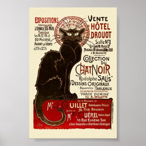 Le Chat Noir, Vente Hôtel Drouot Posters
