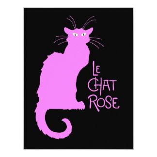 Le Chat Rose 11 Cm X 14 Cm Invitation Card