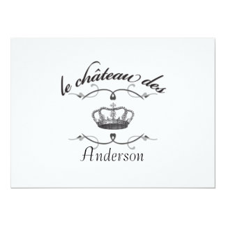 le chateau des YOUR NAME 14 Cm X 19 Cm Invitation Card