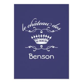 le chateau des YOUR NAME 5.5x7.5 Paper Invitation Card